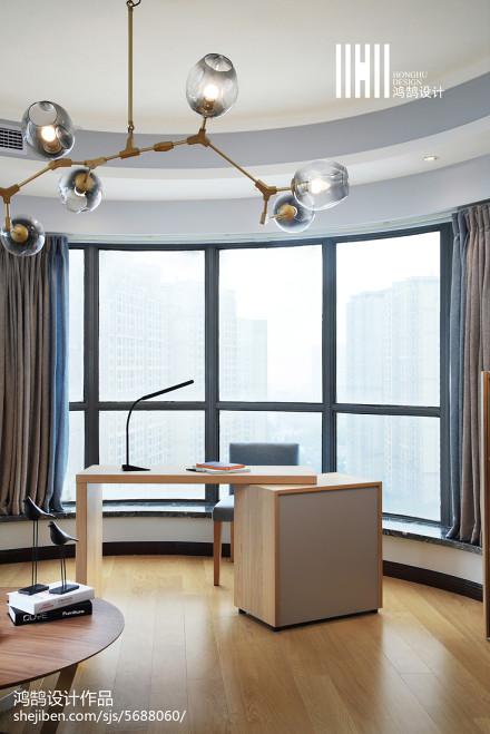 精选109平米三居书房现代装修效果图片欣赏