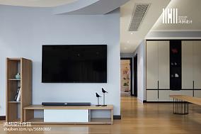 精美90平方三居客厅现代装饰图片大全101-120m²三居现代简约家装装修案例效果图
