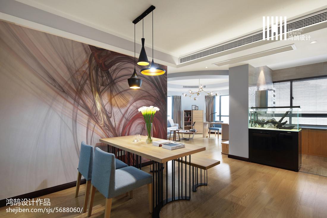 精美100平米三居餐厅现代实景图片欣赏厨房现代简约餐厅设计图片赏析