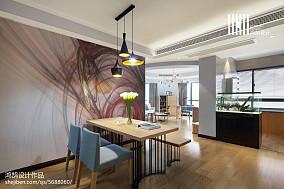 精美100平米三居餐厅现代实景图片欣赏101-120m²三居现代简约家装装修案例效果图
