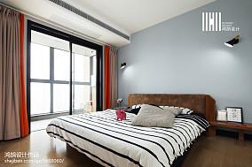 热门106平米三居卧室现代装修效果图片大全101-120m²三居现代简约家装装修案例效果图