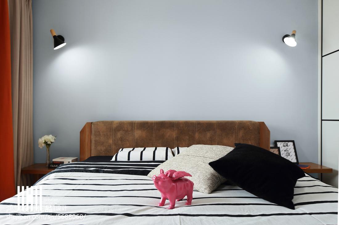 热门97平米三居卧室现代欣赏图片卧室现代简约卧室设计图片赏析