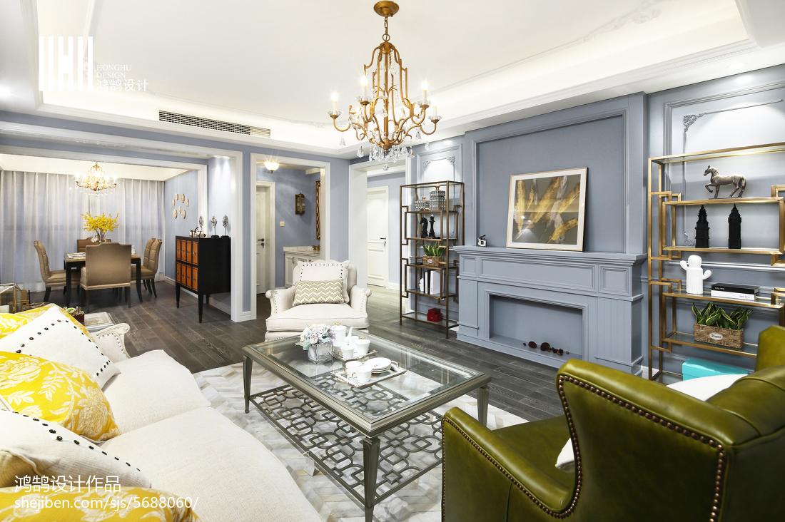 质朴102平混搭三居装饰美图客厅沙发潮流混搭客厅设计图片赏析