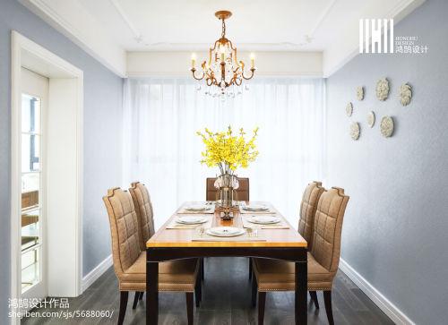 热门大小103平混搭三居餐厅实景图片欣赏厨房窗帘1图