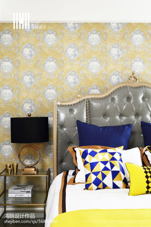 精选面积109平混搭三居卧室设计效果图卧室床1图