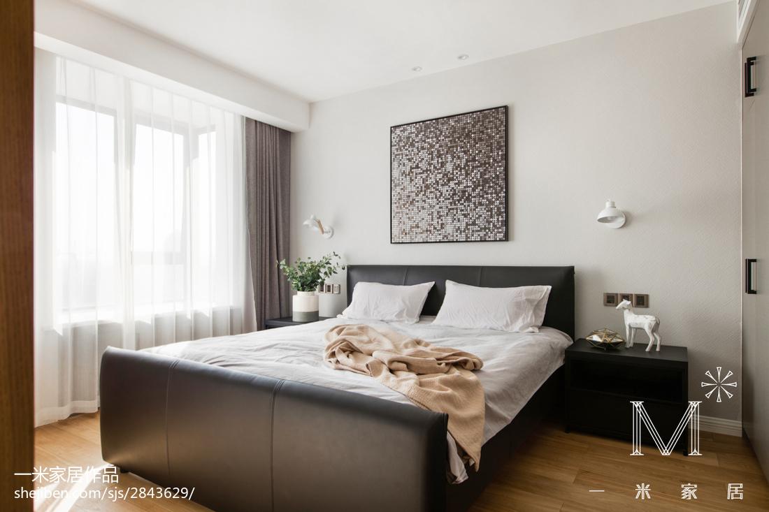 精选大小98平现代三居卧室装修效果图片大全卧室窗帘现代简约卧室设计图片赏析