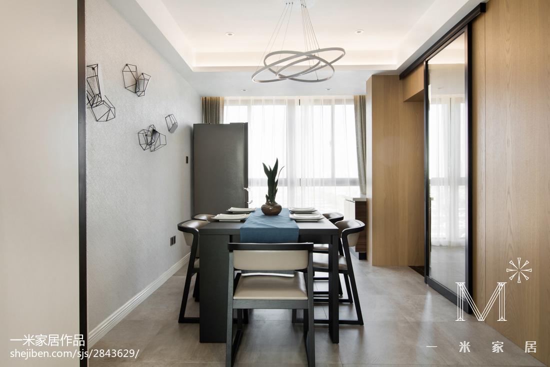 精美90平米三居餐厅现代装修设计效果图片大全厨房现代简约餐厅设计图片赏析