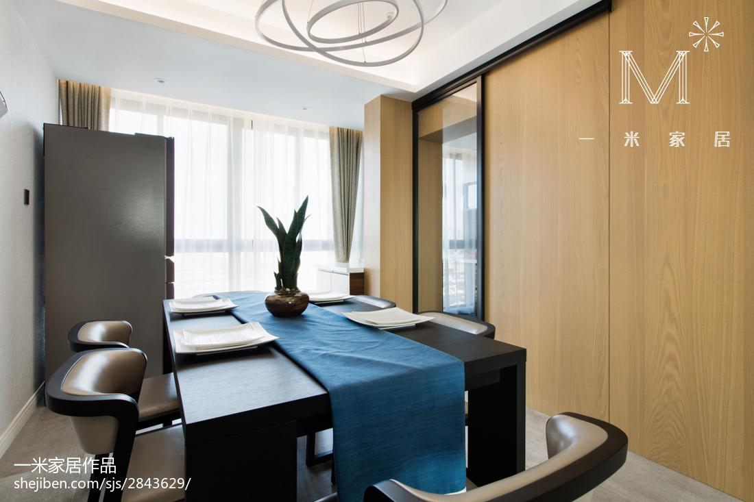 2018大小90平现代三居餐厅欣赏图厨房现代简约餐厅设计图片赏析