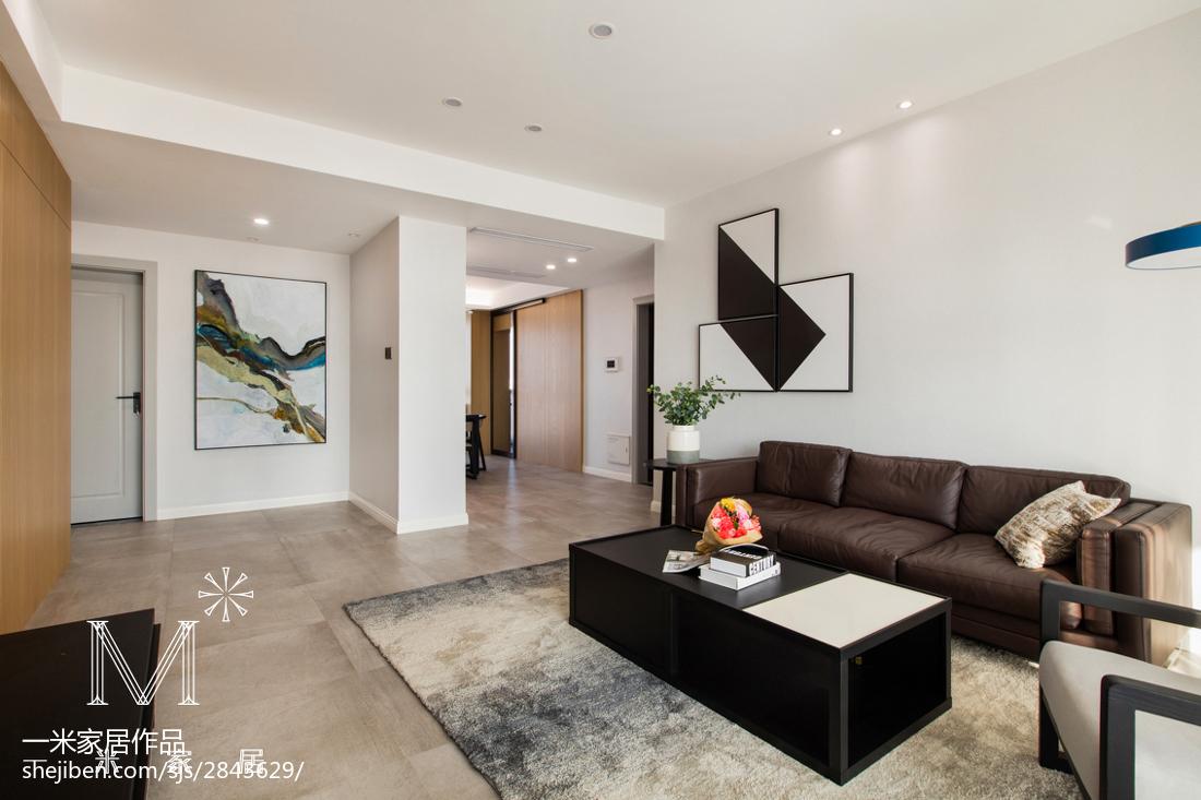 热门大小92平现代三居客厅装修设计效果图片欣赏客厅