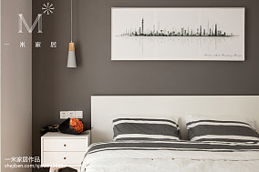 2018精选大小103平北欧三居卧室装修图片欣赏三居北欧极简家装装修案例效果图