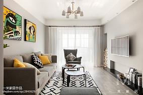 2018面积102平北欧三居客厅效果图三居北欧极简家装装修案例效果图