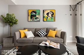 2018大小97平北欧三居客厅装饰图片大全三居北欧极简家装装修案例效果图
