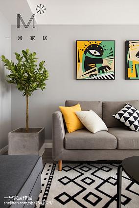 精美面积98平北欧三居客厅装修效果图三居北欧极简家装装修案例效果图