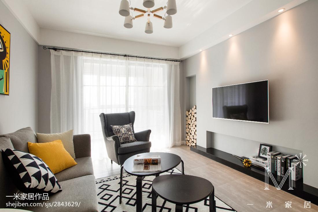 精选101平米三居客厅北欧效果图客厅