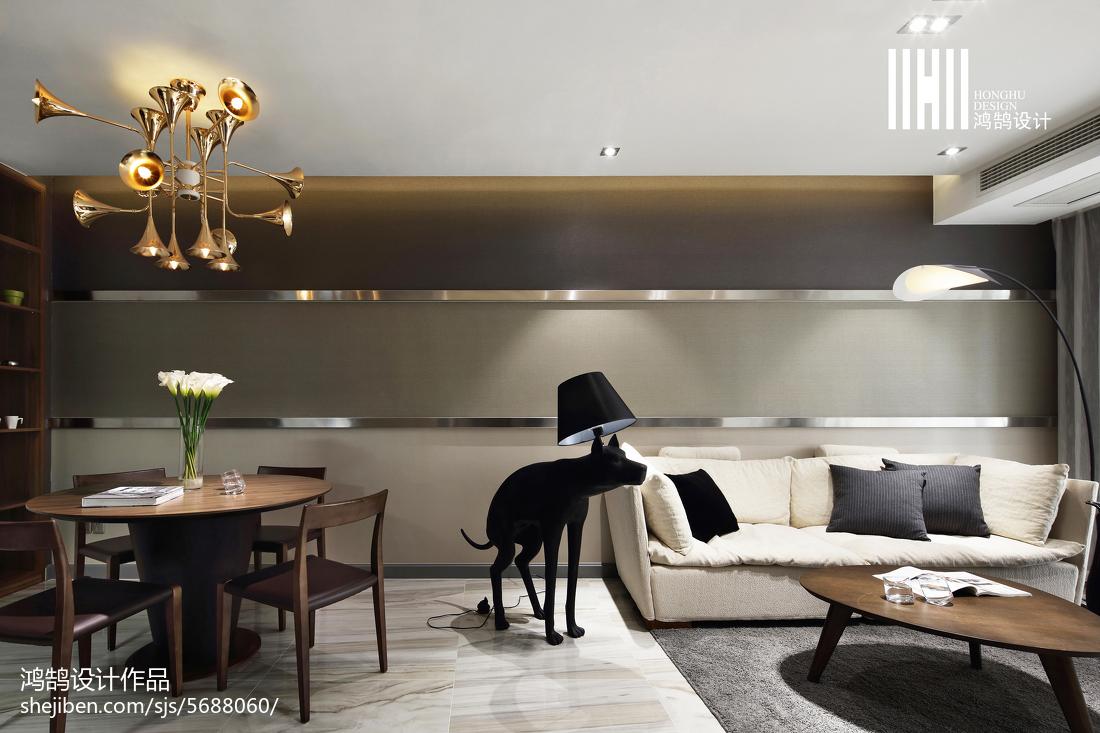 面积78平现代二居客厅装修图片欣赏客厅现代简约客厅设计图片赏析