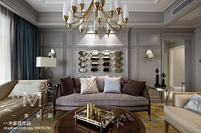 华丽90平新古典三居客厅装修案例