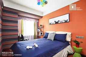 2018精选面积83平现代二居卧室装修效果图片大全二居现代简约家装装修案例效果图