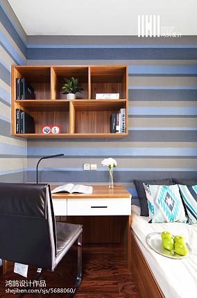 精美70平米二居书房现代装饰图片欣赏二居现代简约家装装修案例效果图