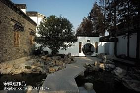 2018精选137平米中式别墅花园装修效果图片欣赏