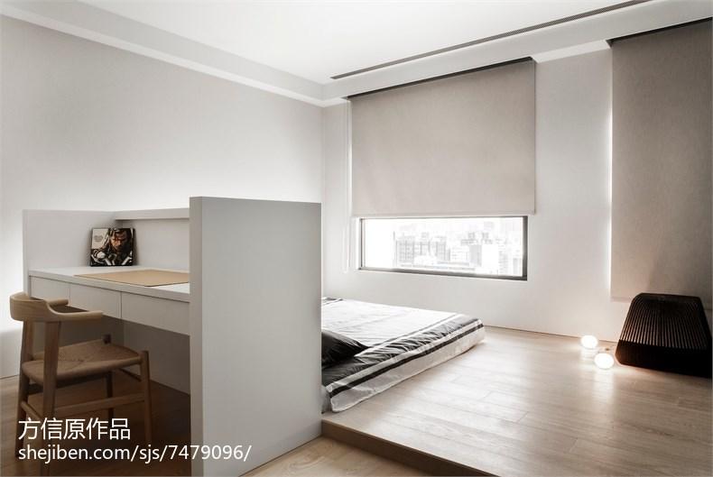 精选103平方三居卧室现代实景图卧室