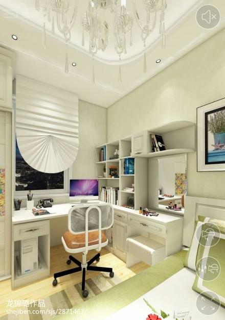 138平米四居卧室新古典装修实景图卧室
