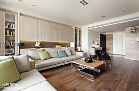 2018面积141平现代四居客厅效果图片大全