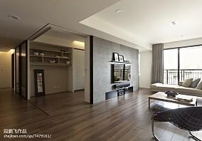 2018127平米四居客厅现代效果图片欣赏