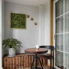 精美日式三居阳台设计效果图