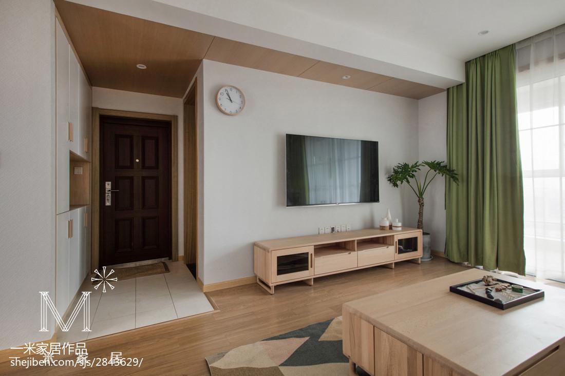 日式背景墙设计案例客厅日式客厅设计图片赏析