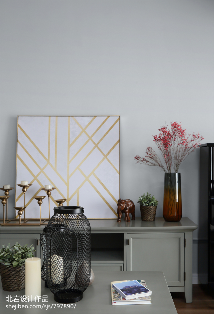 精致39平美式小户型客厅装潢图客厅