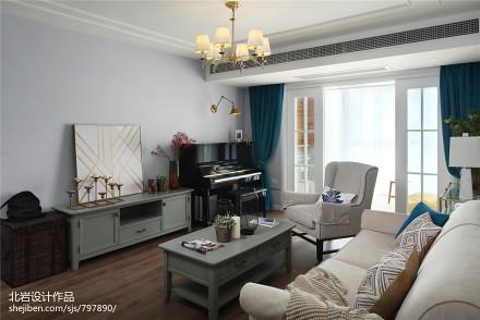 精美38平美式小户型客厅布置图