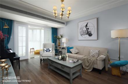 典雅23平美式小户型客厅布置图一居美式经典家装装修案例效果图