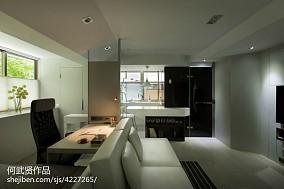 平方二居客厅现代装修效果图片客厅2图现代简约设计图片赏析
