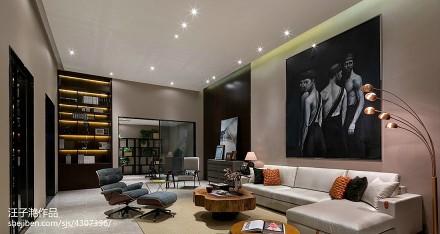 精美135平方混搭别墅客厅装修欣赏图片别墅豪宅潮流混搭家装装修案例效果图