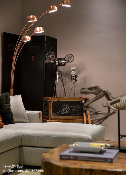 热门面积125平别墅客厅混搭装修设计效果图片欣赏