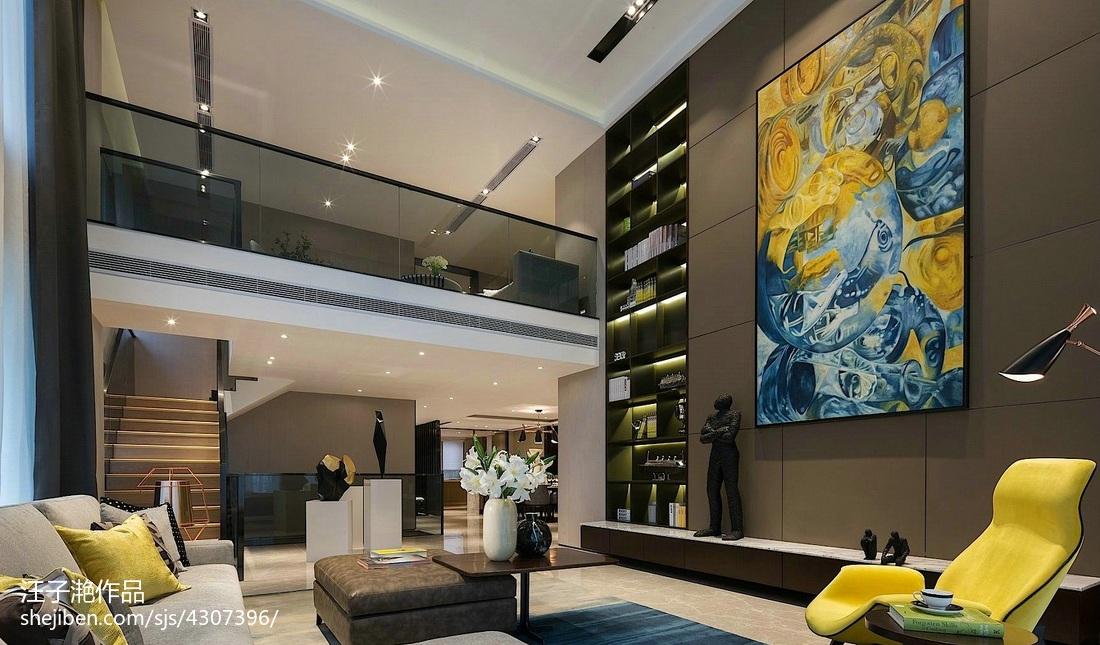 精美面积135平别墅客厅混搭装修实景图片客厅