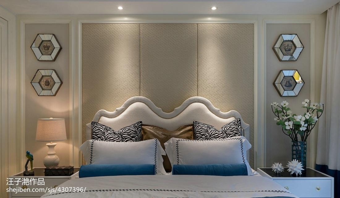 2018面积97平混搭三居卧室装修实景图片大全卧室