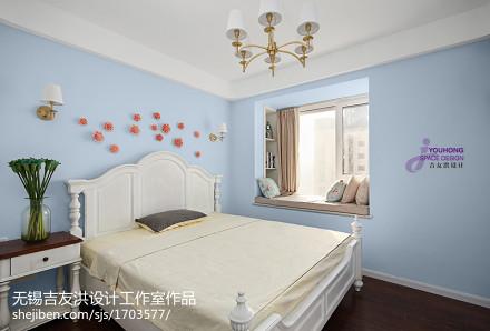 清新美式二居室卧室布置