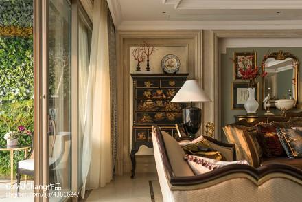 2018客厅欧式实景图片大全样板间欧式豪华家装装修案例效果图