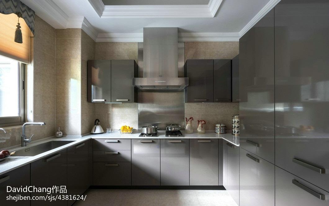 热门厨房欧式装修欣赏图片餐厅橱柜欧式豪华厨房设计图片赏析