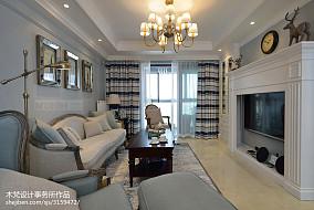 精选面积81平美式二居客厅装修图