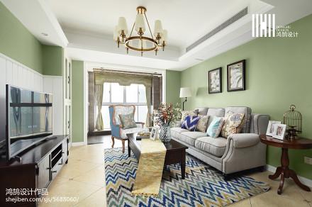 悠雅129平美式三居装修美图客厅2图