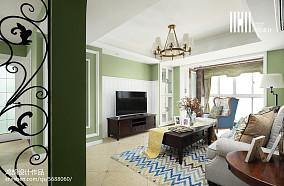 热门面积106平美式三居客厅装修图片