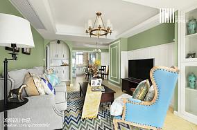 清新美式客厅设计大全三居美式经典家装装修案例效果图