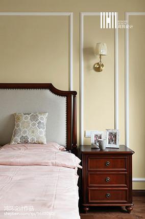 精选面积101平美式三居卧室实景图三居美式经典家装装修案例效果图