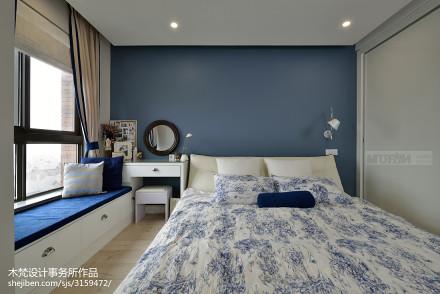 精美62平美式二居图片大全卧室