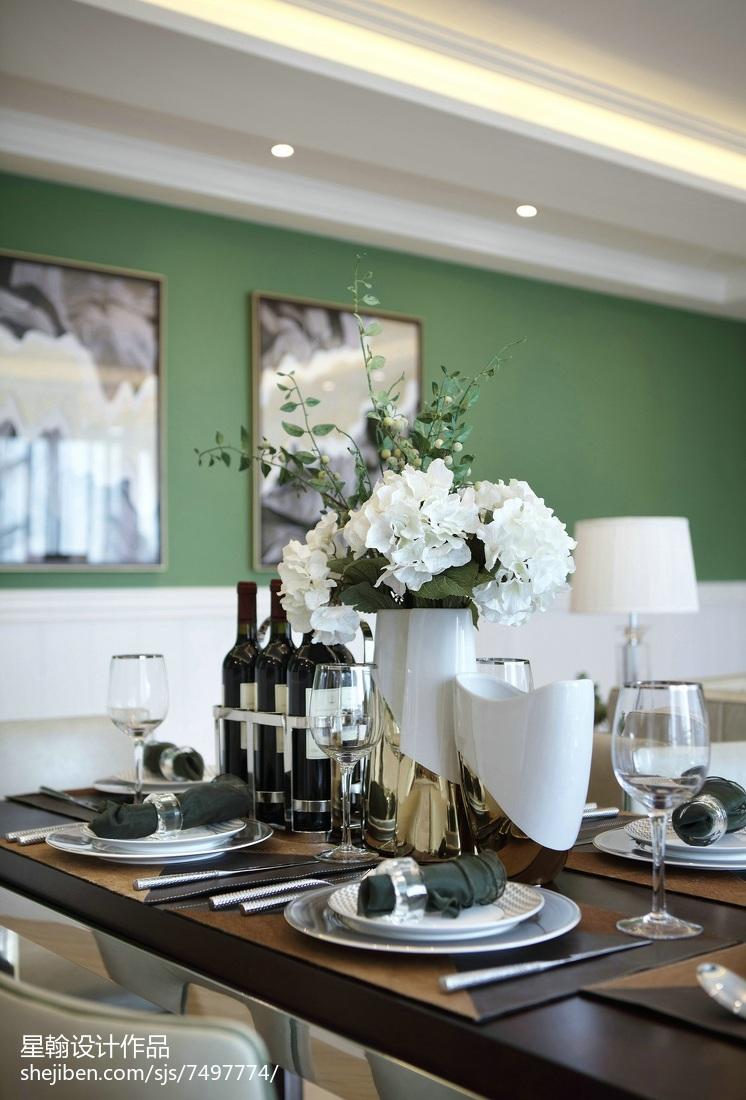2018精选面积90平现代三居餐厅装修实景图片欣赏厨房现代简约餐厅设计图片赏析
