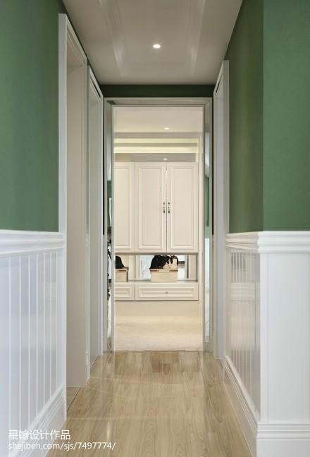 热门104平米三居过道现代装修设计效果图片欣赏玄关