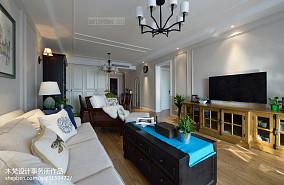 2018大小81平美式二居客厅效果图片大全