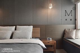 2018精选103平米三居卧室北欧装修效果图片三居北欧极简家装装修案例效果图